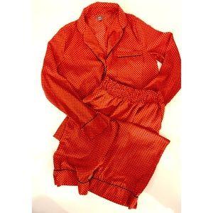 Aerie Red Silky Pajama Set